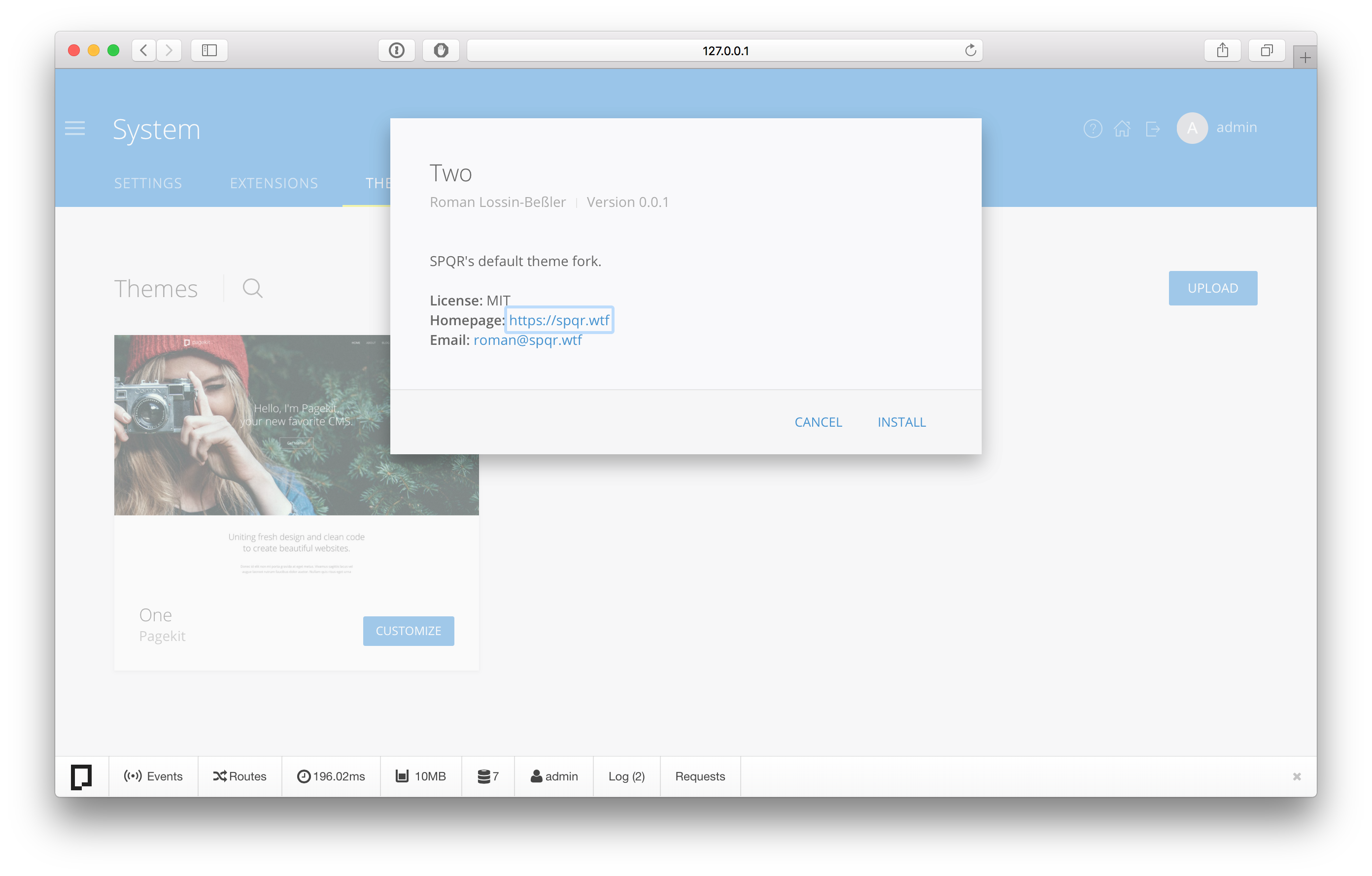 Fork upload theme 3